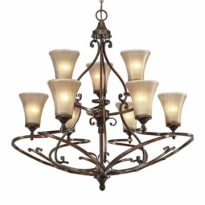 Golden Lighting 4002-9 RSB Loretto 9 Light Chandelier