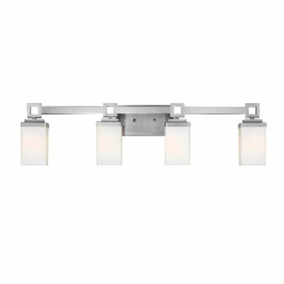 Golden Lighting 4444-BA4 PW Nelio - Four Light Bath Bar