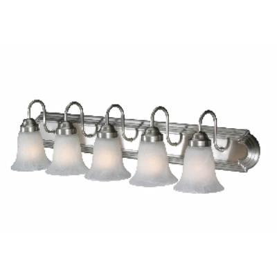 Golden Lighting 5221-5 PW 5 Light Vanity