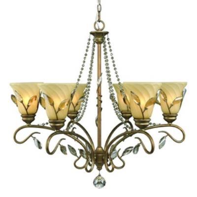 Golden Lighting 5400-6 RG Beau Jardin - Six Light Chandelier