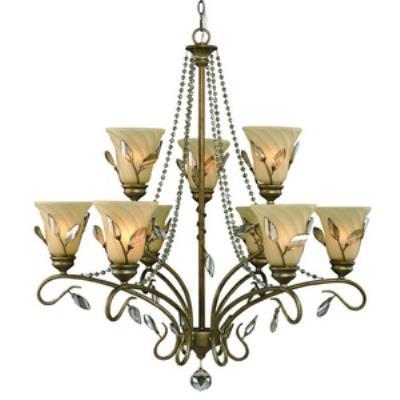 Golden Lighting 5400-9 RG Beau Jardin - Nine Light 2-Tier Chandelier