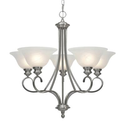 Golden Lighting 6005-5 PW 5 Light Chandelier