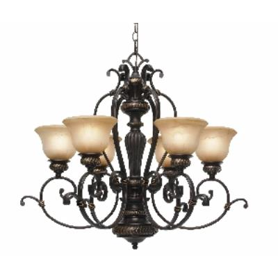 Golden Lighting 6029-6 EB-O 6 Light Chandelier