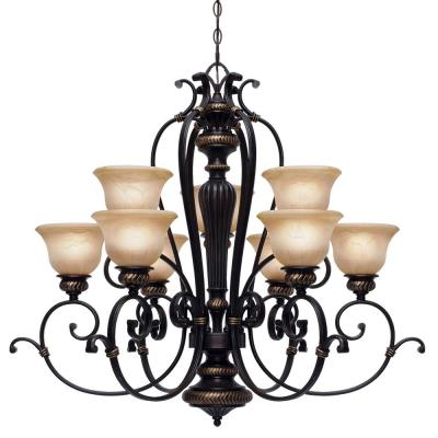 Golden Lighting 6029-9 EB 2 Tier Chandelier