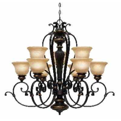 Golden Lighting 6029-9 EB 2 Tier Chandelier