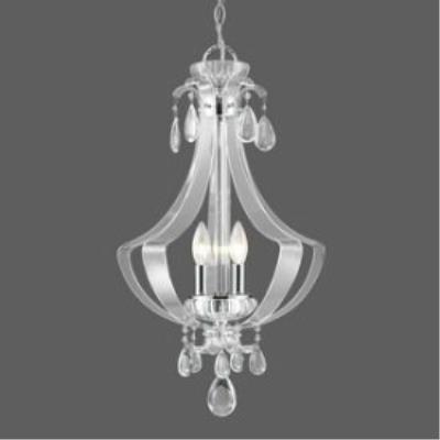 Golden Lighting 6530-3P CH Clarion - Three Light Bowl Pendant