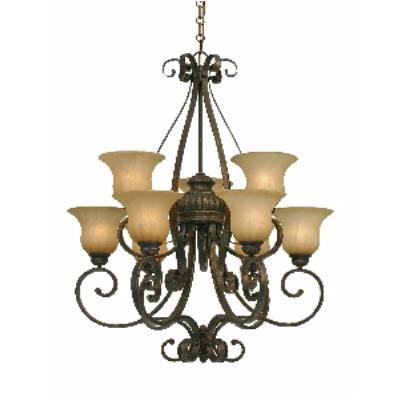 Golden Lighting 7116-9 LC 2 Tier Chandelier