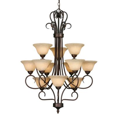 Golden Lighting 7623 RBZ 3 Tier Chandelier