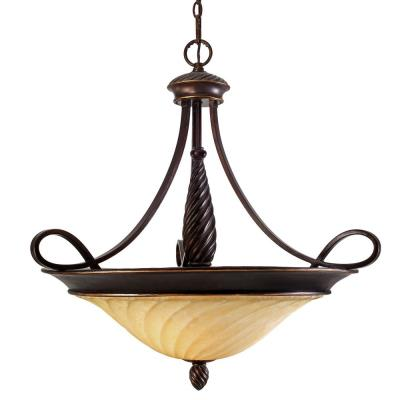 Golden Lighting 8106-BP3 Torbellino - Three Light Bowl Pendant