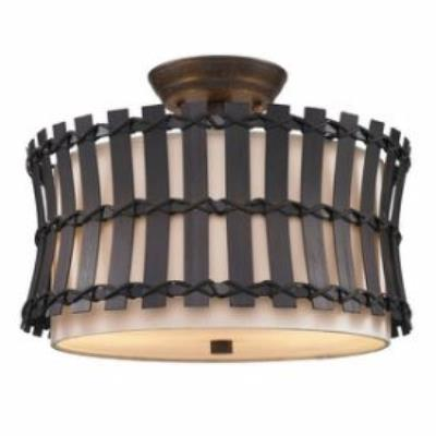 Golden Lighting 9004-SF COB Havana - Two Light Convertible Semi-Flush Mount