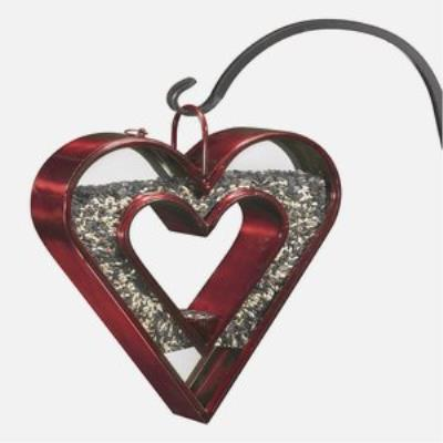 "Good Directions 113R Heart Fly-Thru - 13"" Bird Feeder (Sold as a pack of 3)"