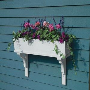 "Lazy Hill - 60"" Sunrise Window Box Planter (Cedar 3 Bracket)"