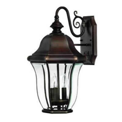 Hinkley Lighting 2334CB Monticello Brass Outdoor Lantern Fixture - Energy Savings/Dark Sky