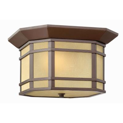 Hinkley Lighting 1273VK Cherry Creek - Two Light Outdoor Flush Mount