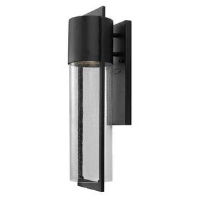 Hinkley Lighting 1324BK-GU24 Shelter - One Light Medium Outdoor Wall Mount