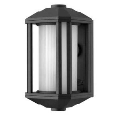 Hinkley Lighting 1396BK-GU24 Castelle - One Light Small Outdoor Wall Mount
