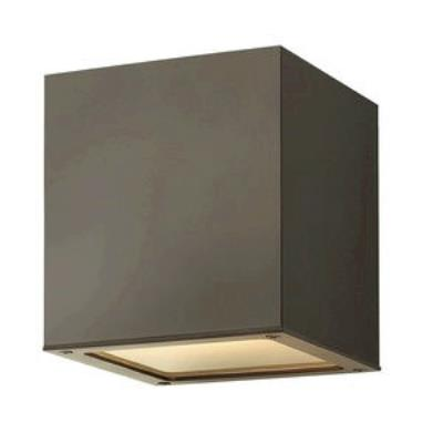 Hinkley Lighting 1763BZ-GU24 Kube - One Light Outdoor Flush Mount