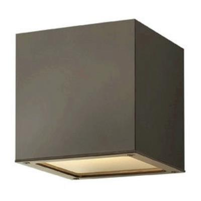 Hinkley Lighting 1766BZ Kube - One Light Outdoor Wall Sconce