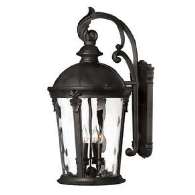 Hinkley Lighting 1899BK Windsor - Four Light Large Outdoor Wall Mount