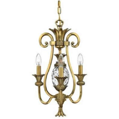 Hinkley Lighting 4103BB Plantation Collection Mini-Chandelier
