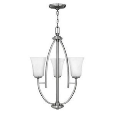 Hinkley Lighting 4703BN Valley - Three Light Semi-Flush Mount