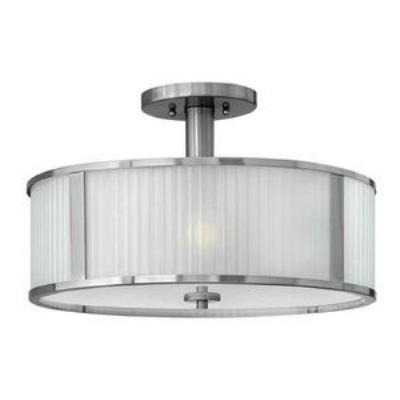 Hinkley Lighting 4971BN Midtown - Three Light Semi-Flush Mount