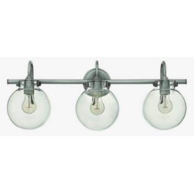 Bath Bar Lights Hinkley lighting 50034an congress three light bath bar audiocablefo
