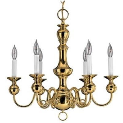 Hinkley Lighting 5126PB Virginian Chandelier