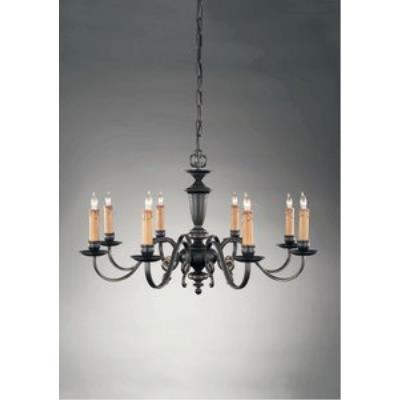 Holtkotter Lighting 2738 Flemish - Eight Light Chandelier