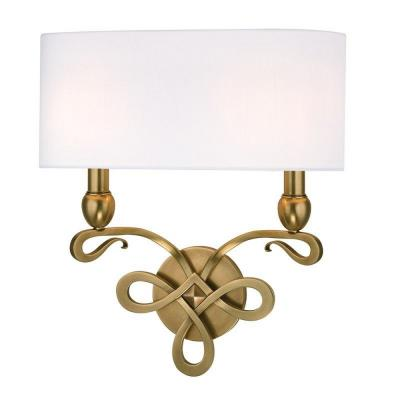 Hudson Valley Lighting 7212-AGB Pawling - Two Light Wall Sconce