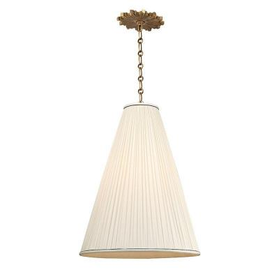 Hudson Valley Lighting 7818-AGB-N Blake - One Light Pendant With Natural