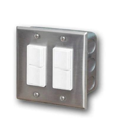 Infratech 14 4305 Accessory - Dual Duplex Switch Wall Plate & Gang Box 20 Amp Per Pole