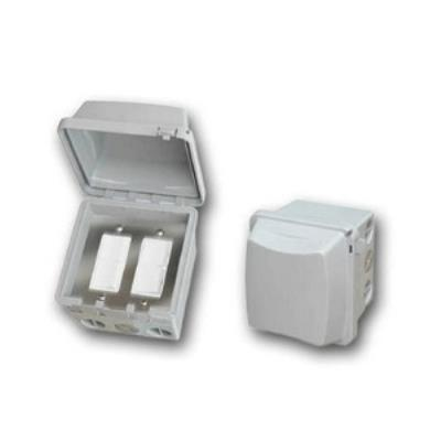 Infratech 14 4325 Accessory - Dual Duplex Switch Surface Mount & Gang Box 20 Amp Per Pole