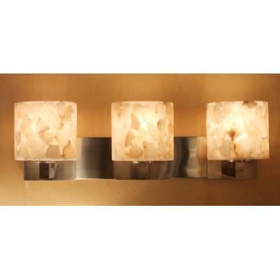 "Justice Design ALR-8923 Alabaster Rocks - 27"" Three Light Bath Bar"