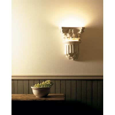 Justice Design 4700 Corinthian Column Closed Bottom Sconce