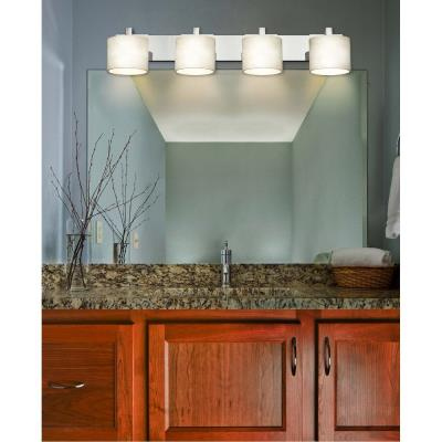 "Justice Design CLD-8924 Clouds - 7.25"" Four Light Bath Bar"