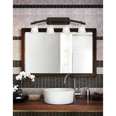 "Justice Design FSN-8594 Fusion - 35.75"" Four Light Bath Bar"