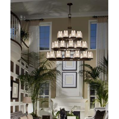 Justice Design FSN-8712 Dakota 36-Light 3-Tier Ring Chandelier