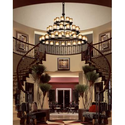 Justice Design FSN-8714 Dakota 45-Light 3-Tier Ring Chandelier