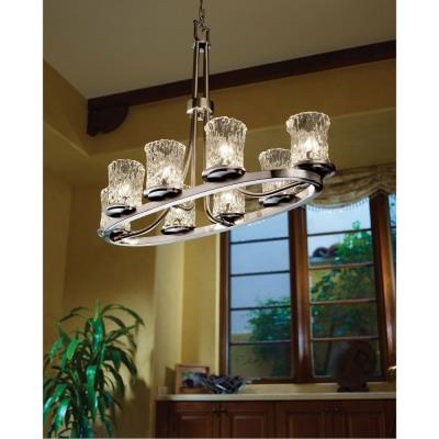 Justice Design GLA-8751 Veneto Luce - Eight Light Dakota Oval Ring Chandelier