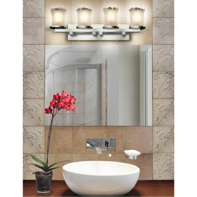 Justice Design GLA-8774 Dakota - Four Light Straight Bath Bar