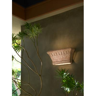 Justice Design 7915W Wide Rectangle Sconce w/ Dentil Design