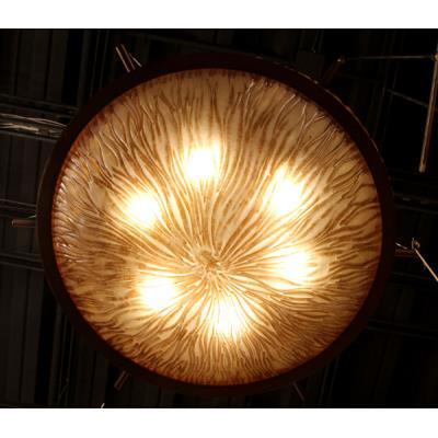 Justice Design GLA-9692 Veneto Luce - Six Light Round Bowl Pendant with Ring