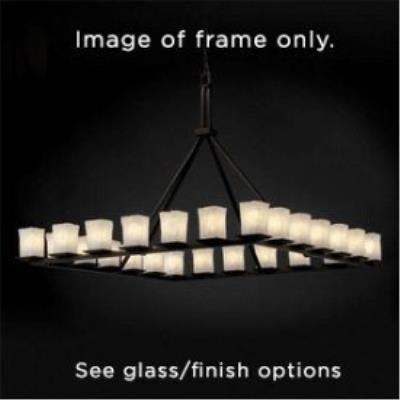 Justice Design ALR-8616 Alabaster Rocks - Twenty-Four Light Montana Ring Chandelier