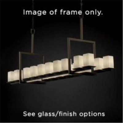 Justice Design ALR-8617 Alabaster Rocks - Twenty Light Montana Chandelier