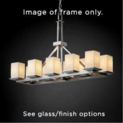Justice Design FSN-8650 Montana 10-Light Rectangular Ring Chandelier