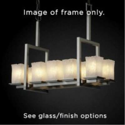 Justice Design FSN-8657 Montana Ten Light Bridge Chandelier