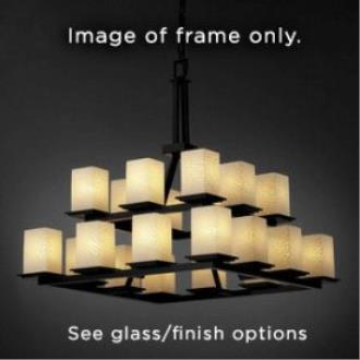 Justice Design CNDL-8667 Montana - Twenty Light Two Tier Ring Chandelier