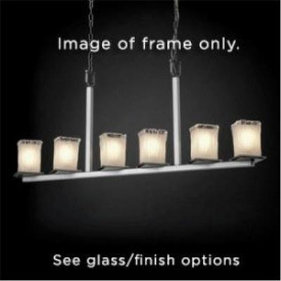Justice Design FAL-8679 Montana - Six Light Bar Chandelier