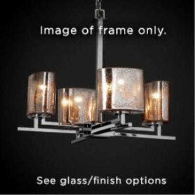 "Justice Design CLD-8700 Clouds - 23"" Four Light Chandelier"